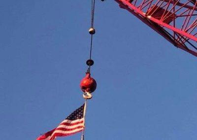 Flag flying from Bleigh Crane